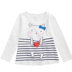 First Impressions Baby Girls Long Sleeved Cat Top